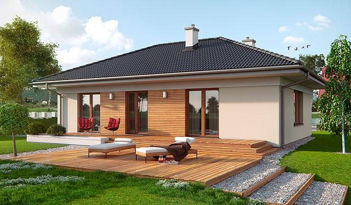 Проект дома 10 на 10 с тремя спальнями | План дома, Проекты домов, Дом | 407x698